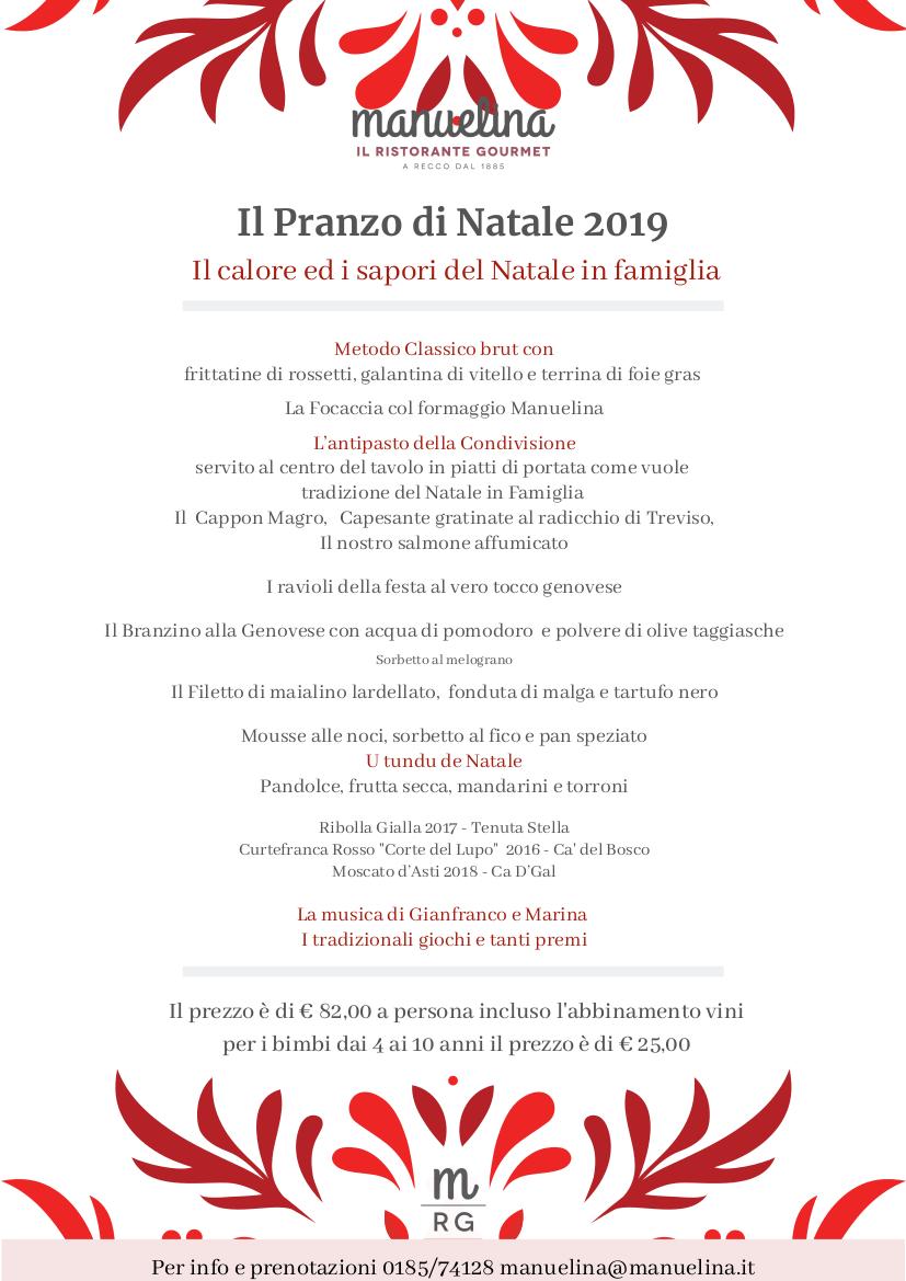 Il pranzo di Natale Manuelina 2019