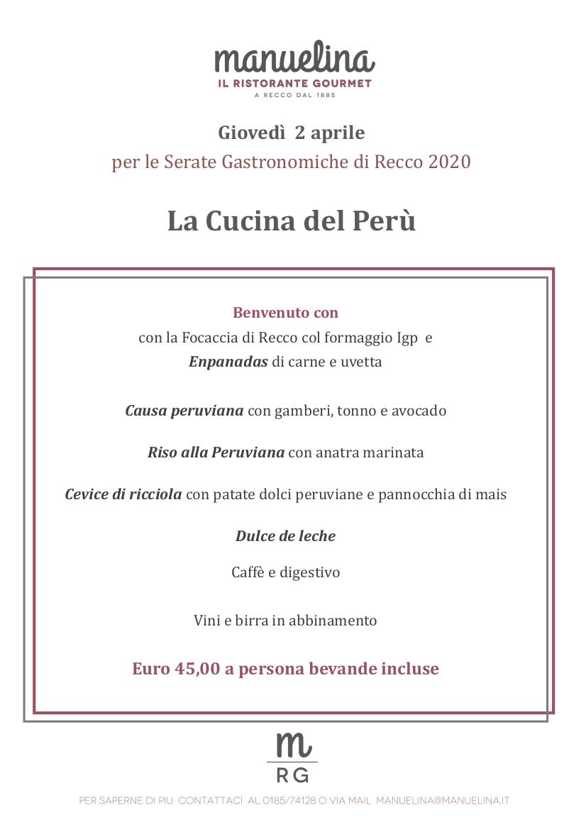 Serata Gastronomica ristorante 2 aprile